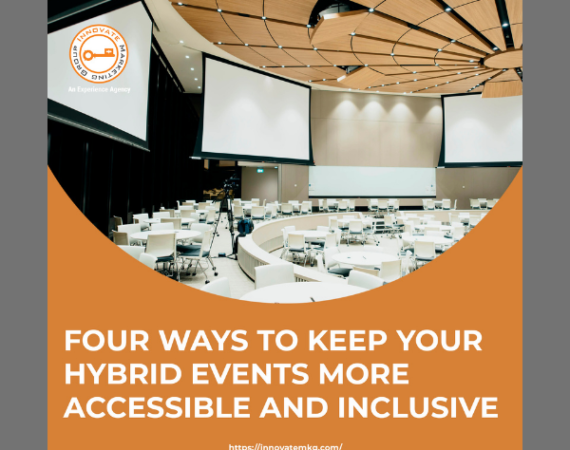 🎯Four ways to keep your hybrid events more accessible and inclusive.