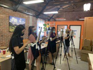 team building activity - paint along